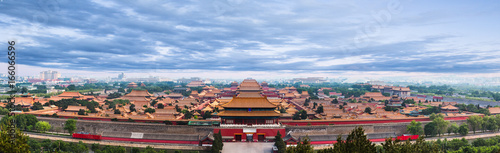 Fotobehang Peking The Forbidden City under blue sky in Beijing,China.