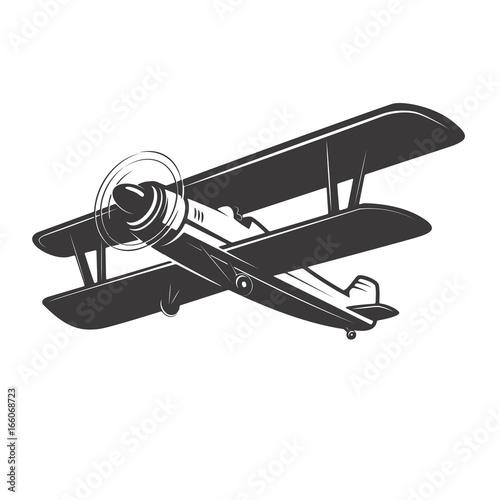 Photo Vintage plane illustration isolated on white background
