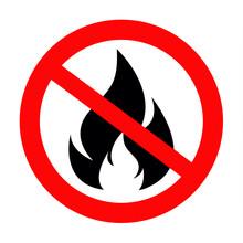 No Fire Vector Sing Icon