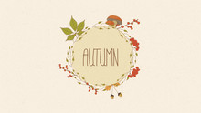 Hand Drawn Autumn Illustration...