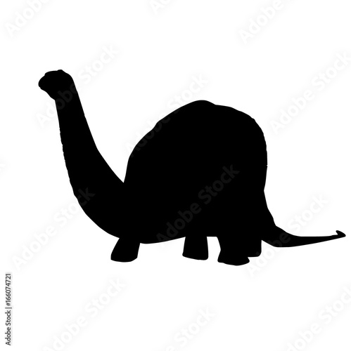 Photo  Vector - Apatosaurus Line Drawing Sketch Silhouette