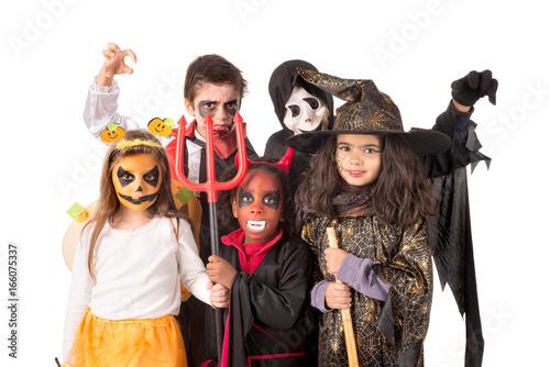 Printed kitchen splashbacks Knights Kids in Halloween