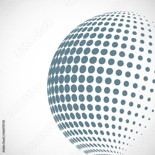 Staande foto Wereldkaart Vector halftone sphere design element