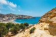 Matala beach. Caves on the rocks were used as a roman cemetery and at the decade of 70's were living hippies from all over the world, Crete, Greece