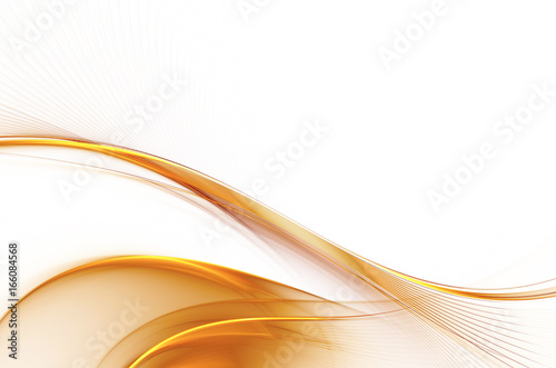 Staande foto Fractal waves abstract fractal background, texture, illustration