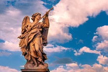 Marble Statue Of Angel With Th...