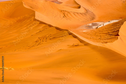Poster Oranje eclat Beautiful desert landscape around Sossusvlei, Namibia, Africa