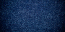 Blue Carpet / Blue Fabric Texture Background / Closeup