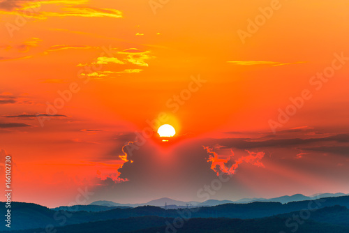Acrylic Prints Clouds at the sunset
