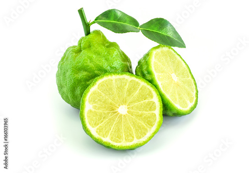 Beautiful bergamot isolated on white background. Canvas Print