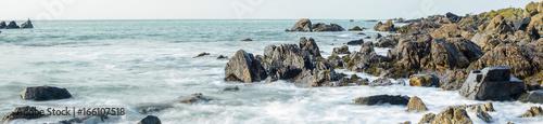 Fototapeta Rocky coastline on Guernsey, Channel Islands, UK obraz