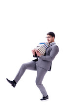 Businessman Student Carrying H...