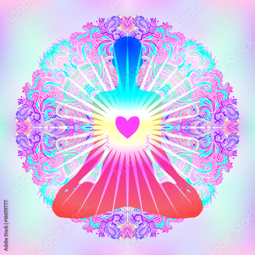 Heart Chakra concept Tablou Canvas