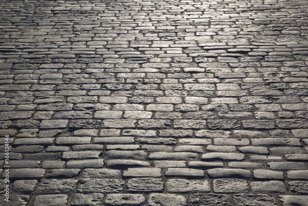 Fototapety, obrazy: Cobblestone Pavement and Street, Stockholm