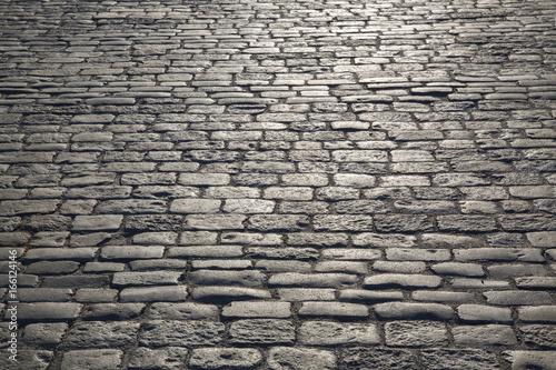 Obraz Cobblestone Pavement and Street, Stockholm - fototapety do salonu
