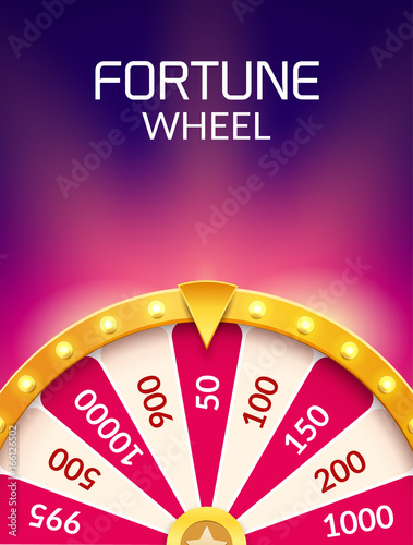 Fotografia Wheel Of Fortune lottery luck illustration