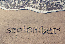 SEPTEMBER On  Beach Sand