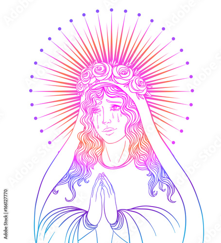 Lady of Sorrow Tapéta, Fotótapéta