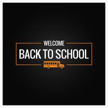 Back To School Line Logo Background