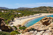 Famous beach at Vai with beautiful palm forest on east Crete, Greece