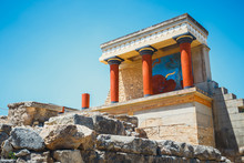 Scenic Ruins Of The Minoan Pal...