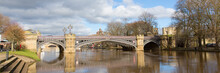 Skeldergate Bridge York Uk With River Ouse Panoramic View