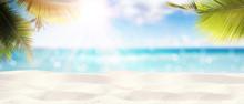 Schöner Strand - Urlaub Konzept