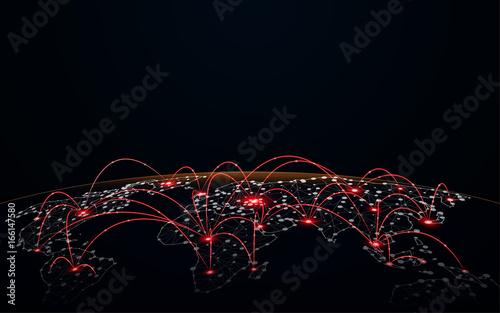 Fotografía  global network connection futuristic technology concept background
