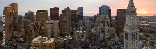 Fotografía Aerial panorama Boston clock tower