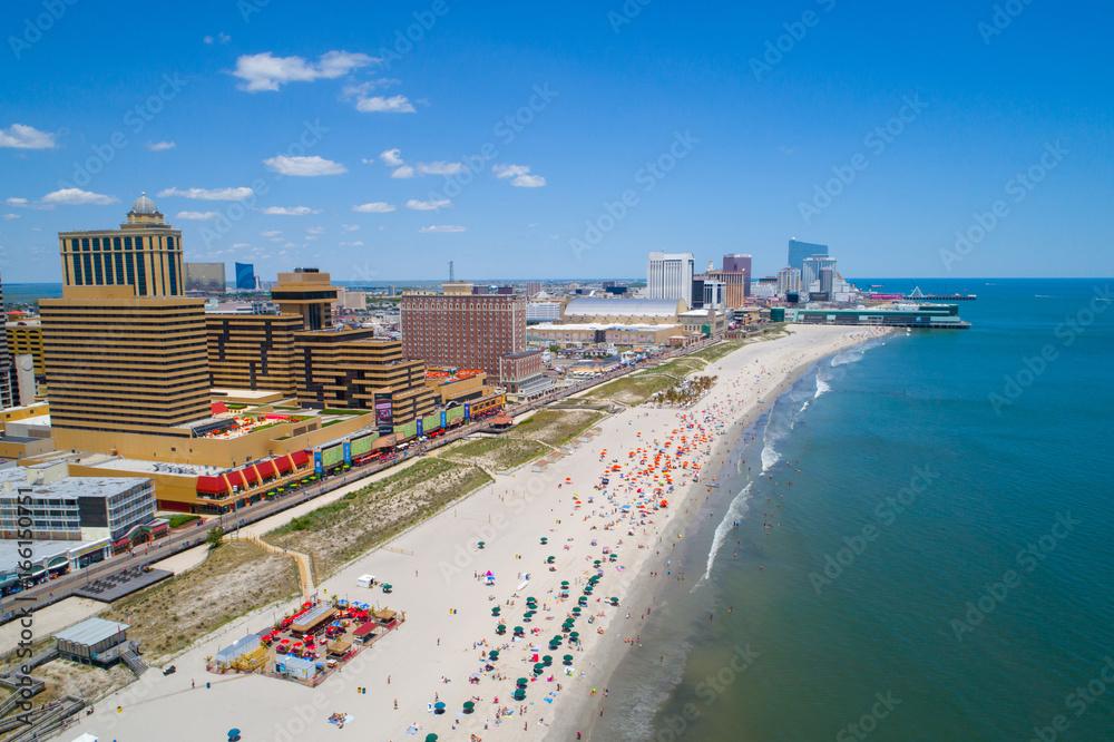 Fototapety, obrazy: Aerial image Atlantic City NJ and pier