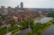 Aerial drone image Boston Massachusetts USA
