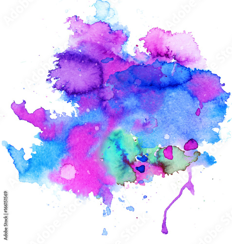 Photo Stands Floral woman Colorful abstract watercolor texture stain with splashes and spatters. Modern creative watercolor background for trendy design.