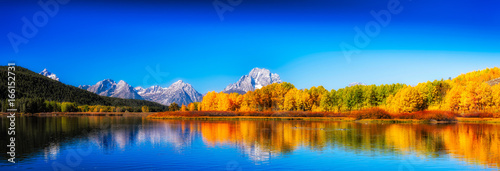 Fototapeta Oxbow Bend in Autumn obraz
