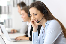 Telemarketing Operator Working...
