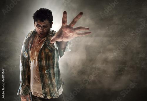 Leinwand Poster Scary zombie