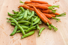 Fresh Peas And Carrots From Th...