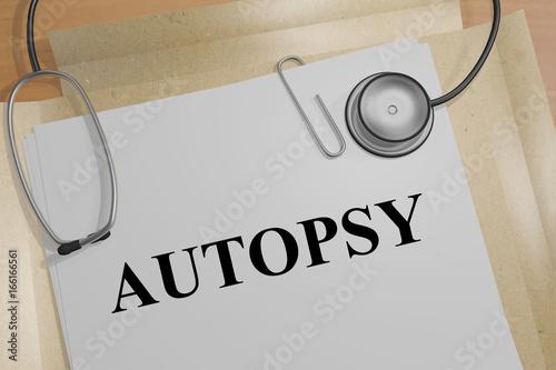 Photo Autopsy - medical concept