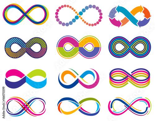 Fotomural Endless mobius loop infinity vector concept symbols