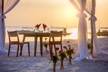 Romantic Dinner Setting On The...