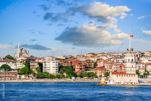 Plakat Stambuł, Turcja - Maiden Tower na Cieśninie Bosfor