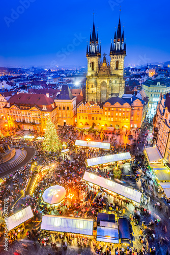 fototapeta na ścianę Prague, Czech Republic - Christmas Market