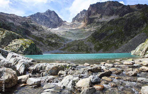 Poster Reflexion lake in the alps range