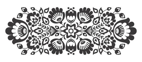 Polish folk flowers papercut decor