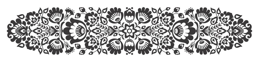 NaklejkaPolish folk flowers papercut decor