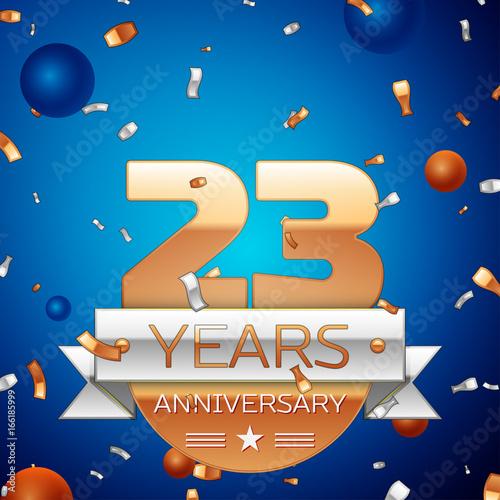 Fotografia  Realistic Twenty three Years Anniversary Celebration Design