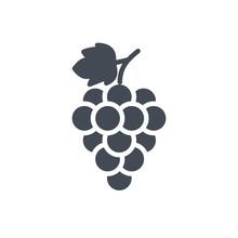 Fruits Food Grape Silhouette Icon