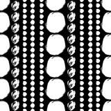 Bezszwowe czarny i biały wzór z koła - 166191584