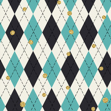 Seamless Blue Argyle Pattern W...