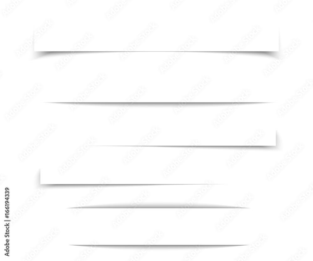 Fototapeta Transparent realistic paper shadow