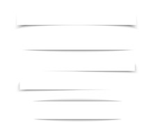 Transparent Realistic Paper Shadow